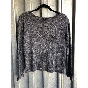 Forever 21 Black/White Sweater Sz M